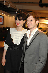 Singer SOPHIE ELLIS-BEXTOR and RICHARD JONES at a Burns Night party hosted by designer Christoper Kane at Harvey Nichols, Knightsbridge, London on 25th January 2008 in association with VisitScotland to promote Edinburgh & Glasgow City Breaks.<br />