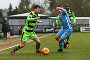 Forest Green Rovers Alex Bray(31) on the ball during the EFL Sky Bet League 2 match between Forest Green Rovers and Coventry City at the New Lawn, Forest Green, United Kingdom on 3 February 2018. Picture by Shane Healey.