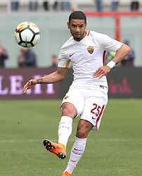 March 18, 2018 - Crotone, KR, Italy - BRUNO PERES of Roma during the serie A match between FC Crotone and AS Roma at Stadio Comunale Ezio Scida on March 18, 2018 in Crotone, Italy. (Credit Image: © Gabriele Maricchiolo/NurPhoto via ZUMA Press)