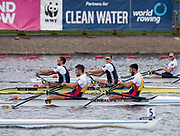 Glasgow, Scotland, Sunday, 5th  August 2018, Final Men's Double Sculls, Bronze  Medalist, GBR M2X,  Bow, Harry LEASK, and  Jack, BEAUMONT, European Games, Rowing, Strathclyde Park, North Lanarkshire, © Peter SPURRIER/Alamy Live News