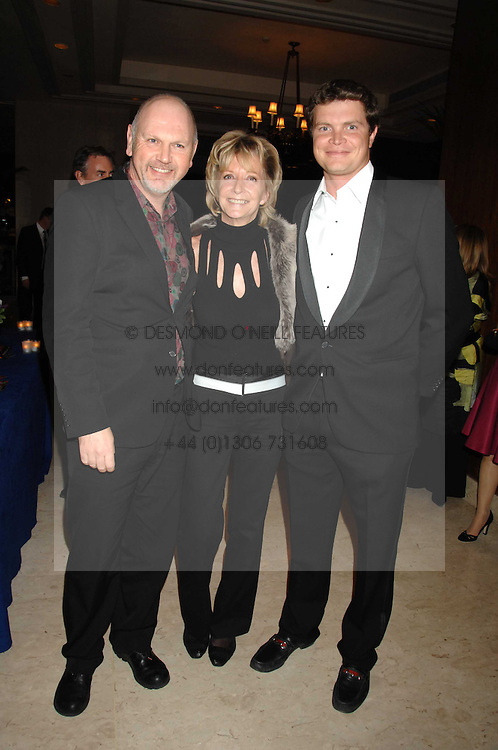 Left to right, executive director of Holders Season STEWART COLLINS, WENDY KIDD and her son JACK KIDD at a dinner to promote the Holders Season in Barbados held at The Four Seasons Hotel, Hamilton Place, London W1 on 30th January 2008.<br /> <br /> NON EXCLUSIVE - WORLD RIGHTS (EMBARGOED FOR PUBLICATION IN UK MAGAZINES UNTIL 1 MONTH AFTER CREATE DATE AND TIME) www.donfeatures.com  +44 (0) 7092 235465
