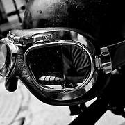 Motorcycle helmet of a NYC street artist.