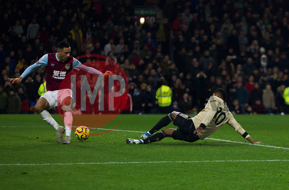 Marcus Rashford of Manchester United scores his sides second goal - Mandatory by-line: Jack Phillips/JMP - 28/12/2019 - FOOTBALL - Turf Moor - Burnley, England - Burnley v Manchester United - English Premier League