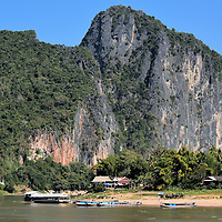Pha Aan Limestone Formation in Ban Pak Ou, Laos <br />