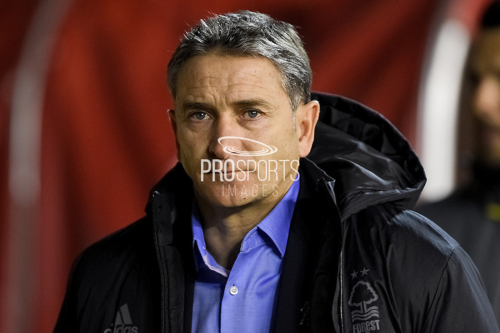 Nottingham Forest manager Philippe Montanier during the EFL Sky Bet Championship match between Nottingham Forest and Preston North End at the City Ground, Nottingham, England on 14 December 2016. Photo by Jon Hobley.