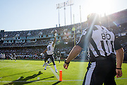 Tennessee Titans wide receiver Rishard Matthews (18) stretches out for a pass attempt against the Oakland Raiders at Oakland Coliseum in Oakland, Calif., on August 26, 2016. (Stan Olszewski/Special to S.F. Examiner)