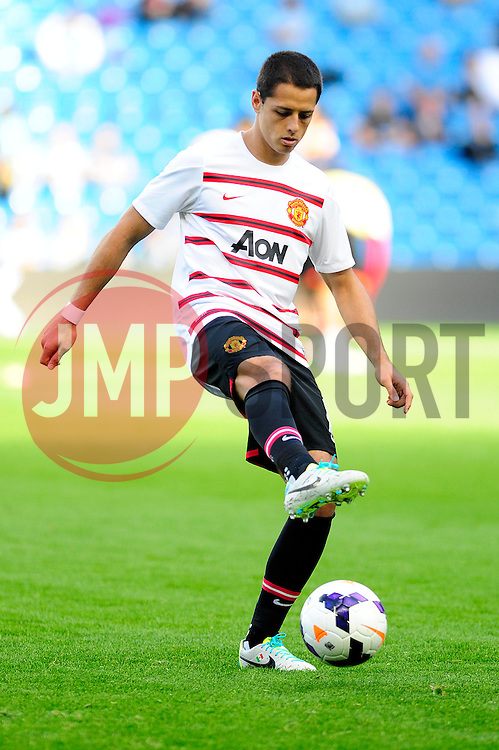 Manchester United's Javier Hernández - Photo mandatory by-line: Dougie Allward/JMP - Tel: Mobile: 07966 386802 22/09/2013 - SPORT - FOOTBALL - City of Manchester Stadium - Manchester - Manchester City V Manchester United - Barclays Premier League