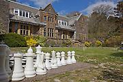 The main garden, Pickwell Manor, Georgeham, North Devon, UK.<br /> CREDIT: Vanessa Berberian for The Wall Street Journal<br /> HOUSESHARE