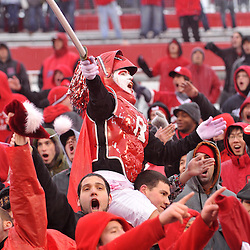 Dec 5, 2009; Piscataway, NJ, USA; Rutgers fans celebrate a Rutgers touchdown during second half NCAA Big East college football action in West Virginia's 24-21 victory over Rutgers at Rutgers Stadium.