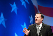 Feb 11, 2011 - Washington, District of Columbia, U.S. - Senator Mike Lee (R-UT) speaks to conservatives at the the annual Conservative Political Action Conference (CPAC) in Washington, D.C on Friday.  More than 11,000 activists and politicians are expected for the 38th annual conference. The three-day meeting is the largest conservative gathering of the year. (Credit Image: © Pete Marovich/ZUMA Press)c