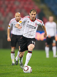 BUCHAREST, ROMANIA - Thursday, December 2, 2010: Liverpool's Milan Jovanovic in action against FC Steaua Bucuresti during the UEFA Europa League Group K match at the Stadionul Steaua. (Pic by: David Rawcliffe/Propaganda)