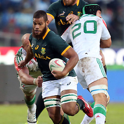 PADUA, ITALY - NOVEMBER 22: Nizaam Carr of South Africa on attack during the Castle Lager Outgoing Tour match between Italy and South African at Stadio Euganeo on November 22, 2014 in Padua, Italy. (Photo by Steve Haag/Gallo Images)