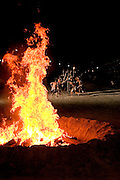 Terena ritual and dance of fire, celebrationg the Indigenous National Party.