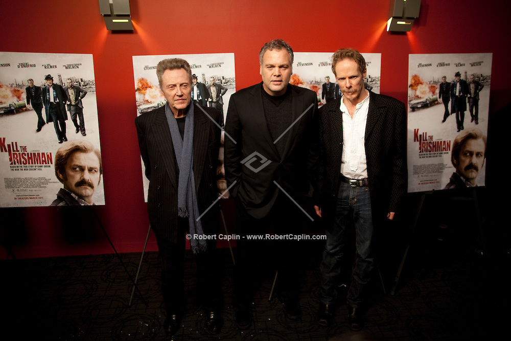 Christopher Walken, Vincent D'Onofrio, and Jonathan Hensleigh at the premiere of Kill the Irishman in New York. ..Photo by Robert Caplin