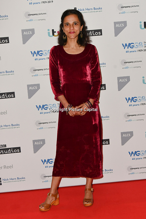 Sheena Kalayil attends 2019 Writers' Guild Awards at Royal College of Physicians on 14 January 2019, London, UK