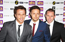 © Licensed to London News Pictures. 16/09/2013, UK. , Jimmy Constable; Lee Brennan; Spike Dawbarn; 911, , National Reality TV Awards, HMV Forum, London UK, 16 September 2013,. Photo credit : Richard Goldschmidt/Piqtured/LNP
