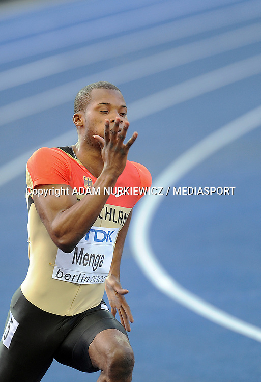 ALEXIO PLATINI MENGA (GERMANY) COMPETES IN 200 METERS MEN SECOND ROUND ON THE OLYMPIC STADION ( OLIMPIASTADION ) DURING 12TH IAAF WORLD CHAMPIONSHIPS IN ATHLETICS BERLIN 2009..BERLIN , GERMANY , AUGUST 18, 2009..( PHOTO BY ADAM NURKIEWICZ / MEDIASPORT )..PICTURE ALSO AVAIBLE IN RAW OR TIFF FORMAT ON SPECIAL REQUEST.
