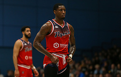 Fred Thomas of Bristol Flyers sets up for a free throw - Photo mandatory by-line: Arron Gent/JMP - 07/12/2019 - BASKETBALL - Surrey Sports Park - Guildford, England - Surrey Scorchers v Bristol Flyers - British Basketball League Championship