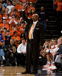Clemson head coach Oliver Purnell.  The Virginia Cavaliers men's basketball team hosted the Clemson Tigers at the John Paul Jones Arena in Charlottesville, VA on February 7, 2008.