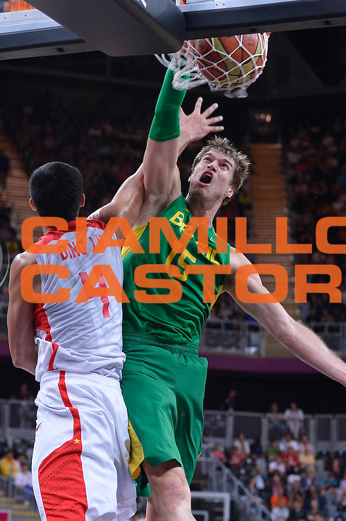 DESCRIZIONE : London Londra Olympic Games Olimpiadi 2012 Men Preliminary Round China Brazil Cina Brasile<br /> GIOCATORE : Tiago SPLITTER <br /> CATEGORIA : <br /> SQUADRA : Brazil Brasile<br /> EVENTO : Olympic Games Olimpiadi 2012<br /> GARA : China Russia Cina Russia<br /> DATA : 04/08/2012<br /> SPORT : Pallacanestro <br /> AUTORE : Agenzia Ciamillo-Castoria/M.Marchi<br /> Galleria : London Londra Olympic Games Olimpiadi 2012 <br /> Fotonotizia : London Londra Olympic Games Olimpiadi 2012 Men Preliminary Round China Brazil Cina Brasile<br /> Predefinita :