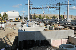Construction Progress Railroad Station Fairfield Metro Center. Site visit 15, Platform and Pedestrian Bridge Foundations.
