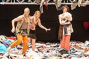 07/04/2014. The critically acclaimed contemporary ensemble les ballets C de la B returns to Sadler's Wells with the UK premiere of Alain Platel's latest creation tauberbach on Tuesday 8 & Wednesday 9 April 2014. Picture shows Lisi Estaras, Elie Tass, Bérengére Bodin.