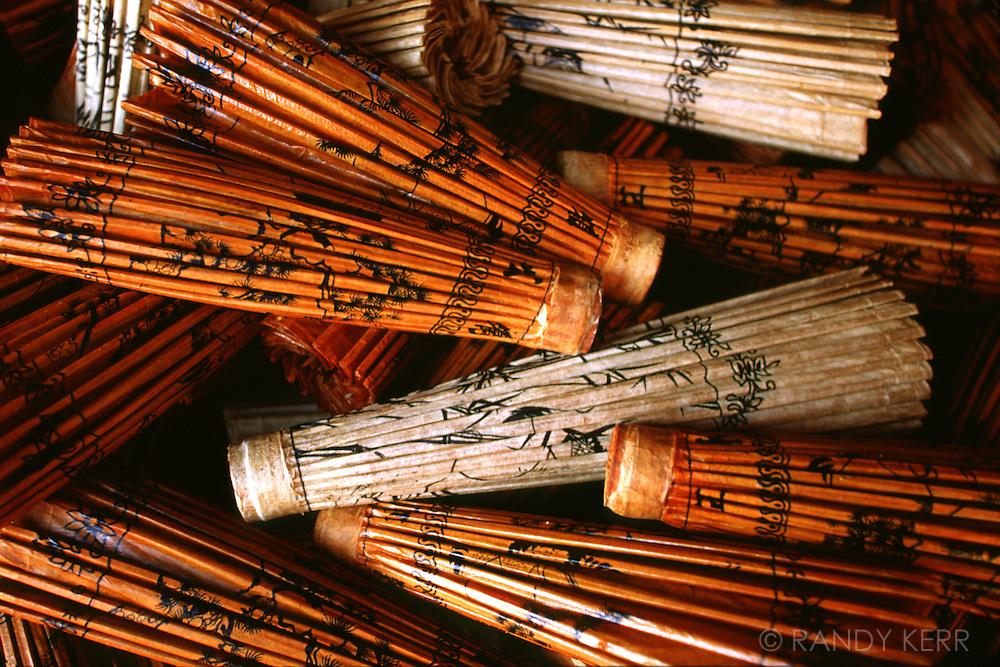 Bamboo umbrellas