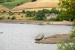 The effects of the heatwave of current heatwave can be clearly seen in the depleted water levels at Ladybower Reservoir in the Peak national park.<br />