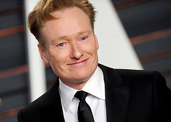 Conan O'Brien in attendance for 2015 Vanity Fair Oscar Party Hosted By Graydon Carter at Wallis Annenberg Center for the Performing Arts on February 22, 2015 in Beverly Hills, California. EXPA Pictures © 2015, PhotoCredit: EXPA/ Photoshot/ Dennis Van Tine<br /> <br /> *****ATTENTION - for AUT, SLO, CRO, SRB, BIH, MAZ only*****