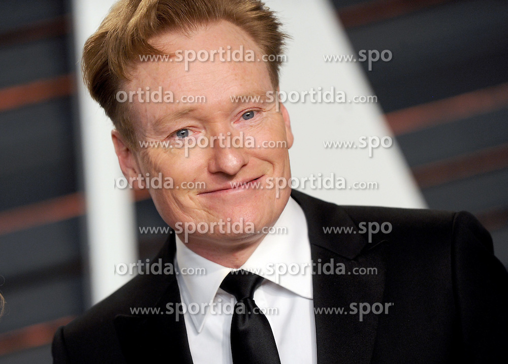 Conan O'Brien in attendance for 2015 Vanity Fair Oscar Party Hosted By Graydon Carter at Wallis Annenberg Center for the Performing Arts on February 22, 2015 in Beverly Hills, California. EXPA Pictures &copy; 2015, PhotoCredit: EXPA/ Photoshot/ Dennis Van Tine<br /> <br /> *****ATTENTION - for AUT, SLO, CRO, SRB, BIH, MAZ only*****