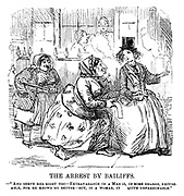 "The Ladies of the Creation; Or, how I was cured of being a strong-minded woman. The Arrest by Bailiffs. - ""And serve her right too - extravagance in a man is, in some degree, excuseable, for he knows no better - but, in a woman, it quite unpardonable."""