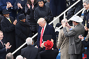 President-elect Donald Trump is applauded as he arrives for the 68th Inaugural Ceremony to become the 45th President on Capitol Hill January 20, 2017 in Washington, DC.