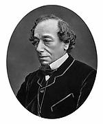 Benjamin Disraeli, 1st Earl of Beaconsfield (1804-1881) British Conservative statesman. Photograph published London c1880.  Woodburytype.