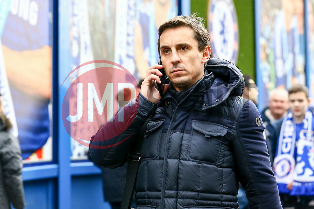 England Manager Gary Neville arrives at Stamford Bridge ahead of todays match - Mandatory by-line: Jason Brown/JMP - 04/01/2017 - FOOTBALL - Stamford Bridge - London, England - Chelsea v Arsenal - Premier League