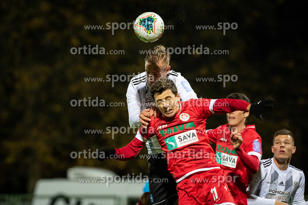 Karamarko Marin of Mura and Leko Nikola of Aluminij during football match between NŠ Mura and NK Aluminij in 17th Round of Prva liga Telekom Slovenije 2019/20, on November 10, 2019 in Fazanerija, Murska Sobota, Slovenia. Photo by Blaž Weindorfer / Sportida