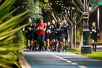 ESTEPONA - 04-01-2016, AZ in Spanje 4 januari, half 8 hardlopen