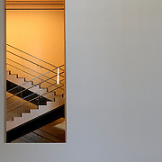 MoMA Museum of Modern Art, Interior Detail. New York City. The building is design by famous Japanese architect Yoshio Taniguchi and MoMA collection has grown to include over 150,000 art pieces and design objects. It is the most influential museum of modern art in the world.