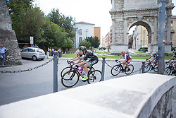 Riejanne Markus (NED) of WM3 Pro Cycling Team rides through Benevento during Stage 7 of the Giro Rosa - a 141.9 km road race, between Isernia and Baronissi on July 6, 2017, in Isernia, Italy. (Photo by Balint Hamvas/Velofocus.com)