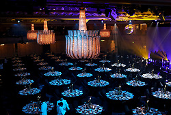 General view of the dinner tables during the Professional Footballers' Association Awards 2017 at the Grosvenor House Hotel, London