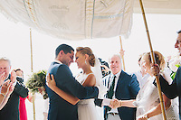 Bride and Groom Liana and Josh's traditional Jewish wedding, at Point Piper, Sydney, Australia. Photo by documentary wedding photographer James Horan - Solas Wedding and Portrait Photography