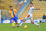 Mansfield Town forward Patrick Hoban (9) during the EFL Sky Bet League 2 match between Mansfield Town and Crawley Town at the One Call Stadium, Mansfield, England on 19 November 2016. Photo by Simon Trafford.