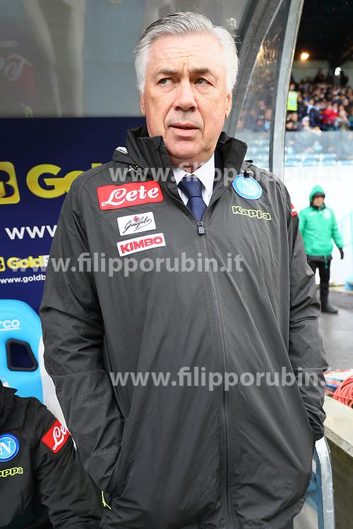 """Foto LaPresse/Filippo Rubin<br /> 12/05/2019 Ferrara (Italia)<br /> Sport Calcio<br /> Spal - Napoli - Campionato di calcio Serie A 2018/2019 - Stadio """"Paolo Mazza""""<br /> Nella foto: CARLO ANCELOTTI (ALLENATORE NAPOLI)<br /> <br /> Photo LaPresse/Filippo Rubin<br /> May 12, 2019 Ferrara (Italy)<br /> Sport Soccer<br /> Spal vs Napoli - Italian Football Championship League A 2018/2019 - """"Paolo Mazza"""" Stadium <br /> In the pic: CARLO ANCELOTTI (NAPOLI'S MANAGER)"""