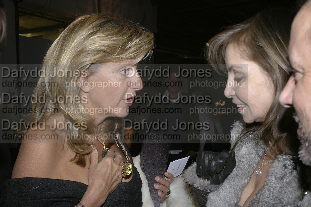 The Countess of Hanover and Carole Siller, Aperiatur Terra, Private View of work by  Anselm Kiefer<br />White Cube, Mason's Yard. - Afterwards dinner at the  NCP Brewer Street (Top<br />Floor)  London, 25 January 2007. -DO NOT ARCHIVE-© Copyright Photograph by Dafydd Jones. 248 Clapham Rd. London SW9 0PZ. Tel 0207 820 0771. www.dafjones.com.