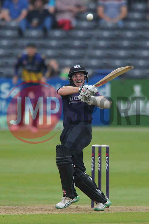 Michael Klinger of Gloucestershire bats - Photo mandatory by-line: Dougie Allward/JMP - Mobile: 07966 386802 - 12/06/2015 - SPORT - Cricket - Bristol - County Ground - Gloucestershire v Glamorgan - Natwest T20 Blast