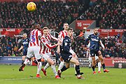 Leeds United forward Jack Clarke (47) watches as the ball goes outdoor a corner during the EFL Sky Bet Championship match between Stoke City and Leeds United at the Bet365 Stadium, Stoke-on-Trent, England on 19 January 2019.