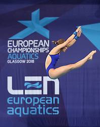 Russia's Yulia Timoshinina during the Mixed Team Diving Final during day five of the 2018 European Championships at the Royal Commonwealth Pool, Edinburgh.
