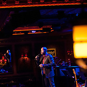 December 4, 2012 - New York, NY : Actor and singer Darius de Haas, center, performs at the nightclub 54 Below in Manhattan on Tuesday evening. CREDIT: Karsten Moran for The New York Times