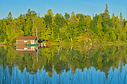 Cottage on Snake Island Lake in the White Bear Forest Conservation Reserve<br />Temagami<br />Ontario<br />Canada