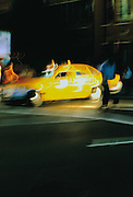 Image of a taxicab in New York City, New York.