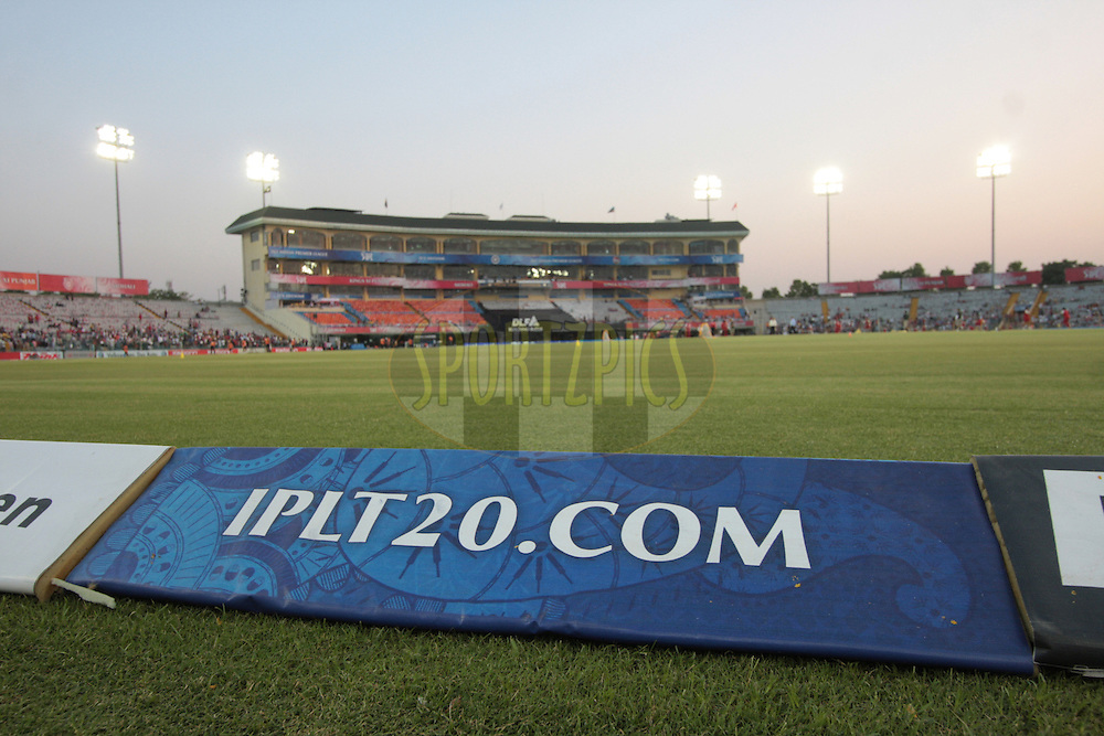 IPLT20.com advt. display during match 51 of the Indian Premier League ( IPL ) Season 4 between the Kings XI Punjab and the Pune Warriors India held at the PCA stadium in Mohali, Chandigarh, India on the 8th May 2011..Photo by Anil Dayal/BCCI/SPORTZPICS